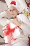 Mulher com presentes Imagem de Stock