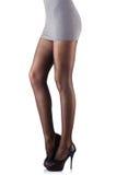 Mulher com pés altos Fotografia de Stock Royalty Free