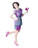 Mulher com ramalhete Imagens de Stock