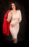Mulher com revestimento Fotografia de Stock