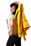 Mulher com revestimento Foto de Stock Royalty Free