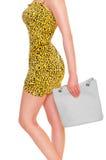 Mulher com saco Imagem de Stock Royalty Free