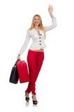 Mulher com saco Fotografia de Stock Royalty Free