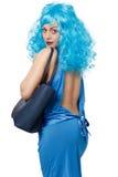Mulher com saco Imagens de Stock