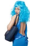 Mulher com saco fotografia de stock