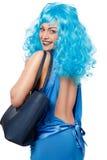 Mulher com saco Fotos de Stock Royalty Free