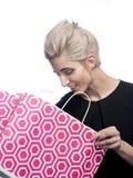 Mulher com saco de compra fotografia de stock royalty free