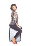 Mulher com saco do curso Imagens de Stock Royalty Free