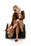 Mulher com saco enorme Fotos de Stock Royalty Free
