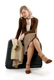 Mulher com saco enorme Foto de Stock