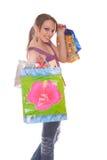 Mulher com sacos de compra Imagem de Stock Royalty Free