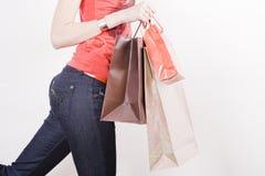 Mulher com sacos de compra Fotos de Stock