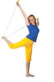 Mulher com saltar-corda foto de stock