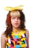 Mulher com sapata Imagens de Stock Royalty Free
