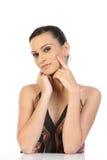 Mulher com skincare bonito fotos de stock royalty free