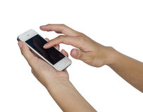 Mulher com smartphone Imagens de Stock Royalty Free
