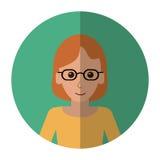 Mulher com sombra inteligente do sucesso dos vidros ilustração do vetor