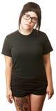 Mulher com tatuagem no pé Imagem de Stock Royalty Free