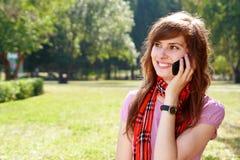 Mulher com telefone Foto de Stock Royalty Free