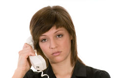 Mulher com telefone fotos de stock royalty free