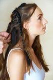 Mulher com tranças Imagens de Stock