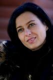mulher com um cabelo preto Foto de Stock Royalty Free