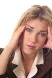Mulher com um migrane Imagem de Stock Royalty Free