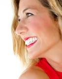 Mulher com um sorriso fantástico imagens de stock