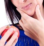Mulher com um toothpain Foto de Stock