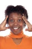 Mulher com uma expressão Foto de Stock Royalty Free