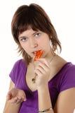 Mulher com uma medicina Imagem de Stock