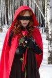 Mulher com uma rosa Fotografia de Stock Royalty Free