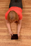 Mulher com uma tabuleta Foto de Stock Royalty Free