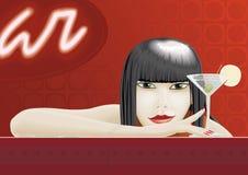 Mulher com vidro Foto de Stock