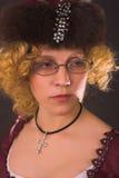 Mulher com vidros Imagens de Stock Royalty Free