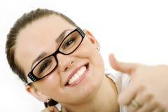 Mulher com vidros Imagem de Stock