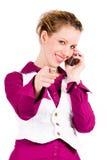 A mulher comercial está chamando Imagens de Stock Royalty Free