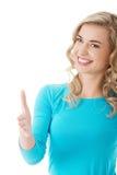 Mulher completa do comprimento pronta ao aperto de mão Fotografia de Stock Royalty Free