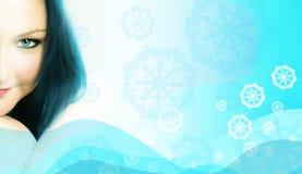 Mulher congelada Imagens de Stock Royalty Free