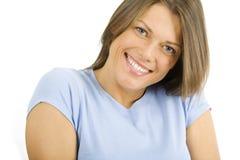 Mulher consideravelmente feliz dos jovens Fotografia de Stock