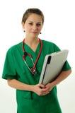 Mulher consideravelmente médica foto de stock