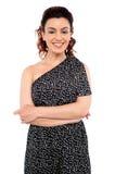 A mulher consideravelmente nova vestiu-se no vestuário do desgaste do partido Imagem de Stock Royalty Free