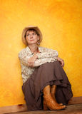 Mulher consideravelmente ocidental Foto de Stock