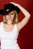 Mulher consideravelmente ocidental fotografia de stock