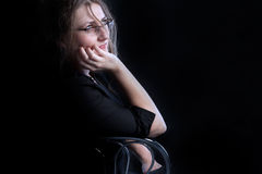 Mulher contemplativa Imagens de Stock Royalty Free