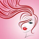 A mulher cor-de-rosa indica bonito e atrativo ilustração stock