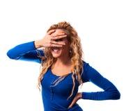 Mulher curiosa Imagem de Stock Royalty Free