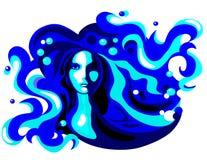 Mulher da água Foto de Stock Royalty Free