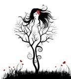Mulher da árvore ilustração stock