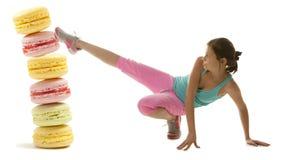 Mulher da aptidão da dieta Fotografia de Stock